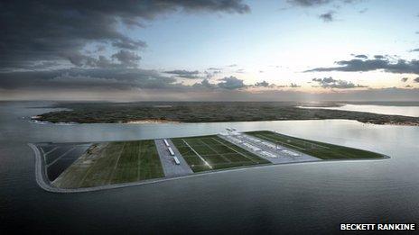 Проект плавающего аэропорта для Лондона предложила компания Beckett Rankine