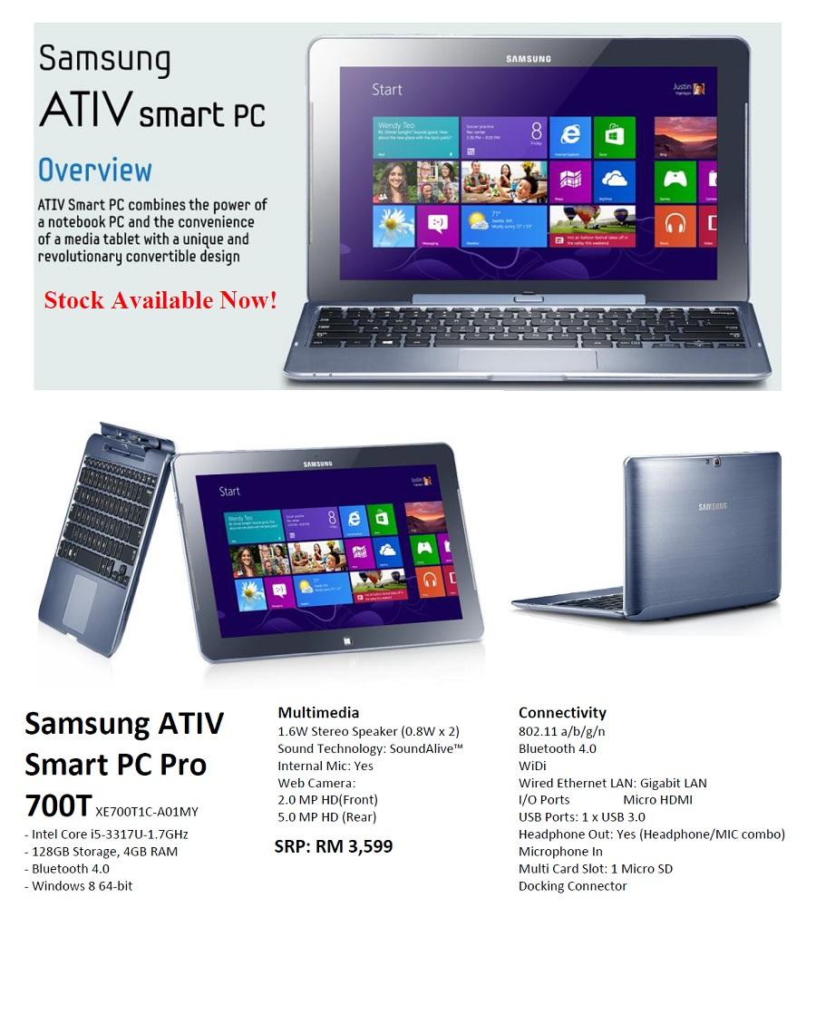 Представлен обзор планшета Samsung ATIV Smart PC Pro 700T